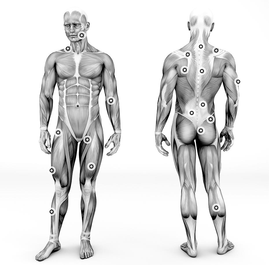 durere acută de mușchi sau articulație)